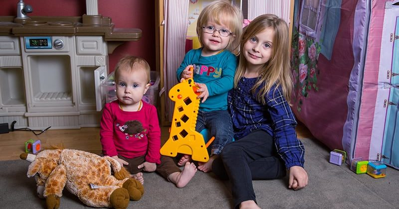 Allyson and Theodore, parents of three young daughters, turned to Penn Foundation's Early Intervention Services