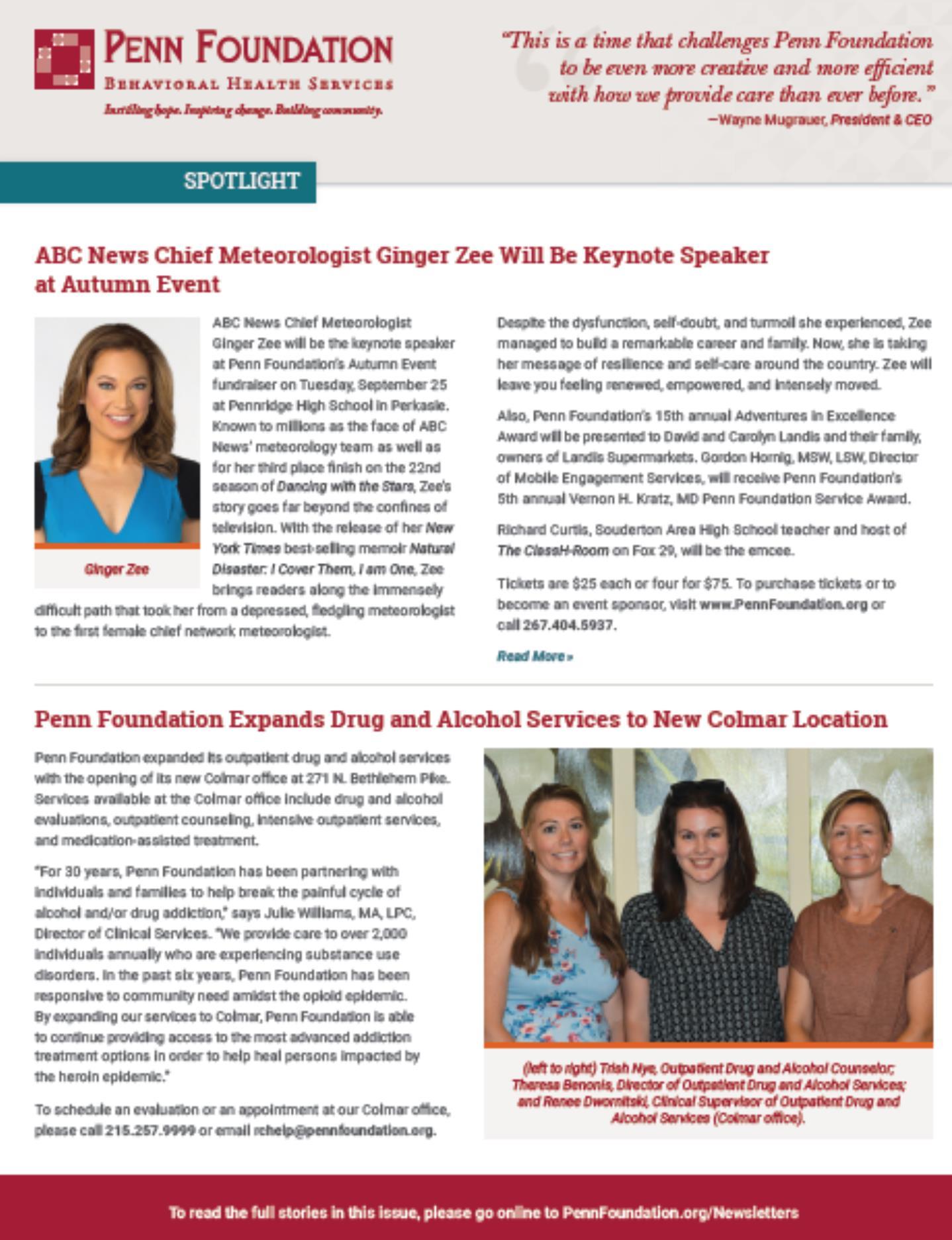 Newsletters Penn Foundation